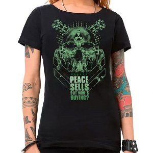 Camiseta Feminina Peace Sells