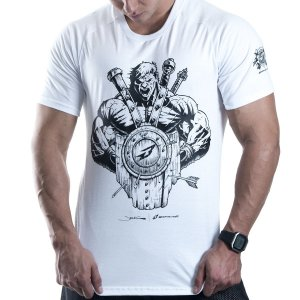 "CAMISETA PREMIUM - WARRIOR ""BRANCA"""