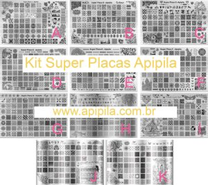 Kit Super Placas Apipila - 11 Super Placas