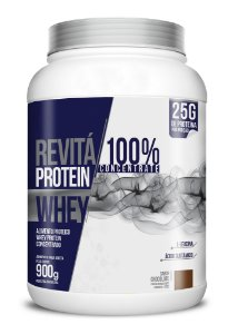 Whey Revita Protein Concentrate sabor Chocolate - CháMais - 900g