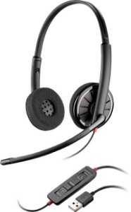 Headset Biauricular Plantronics Blackwire C320-M c/ Conector USB