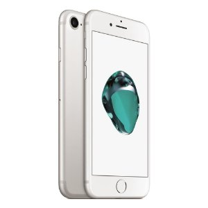 "IPhone 7 128GB Tela HD 4.7"" Câmeras 12MP/7MP, iOS 10, Sensor Touch ID,Resistente à Água, Wi-Fi - Prata"