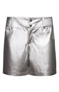 Shorts Metalic Prata