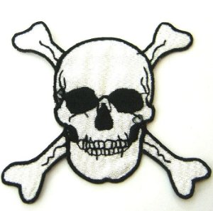 Patch Bordado Termocolante Caveira