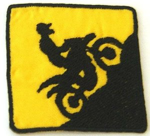 Patch Bordado Termocolante Motocross