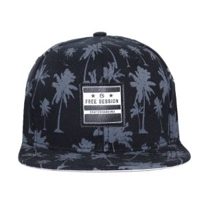 Boné Snapback Free Session Skateboarding Tropical
