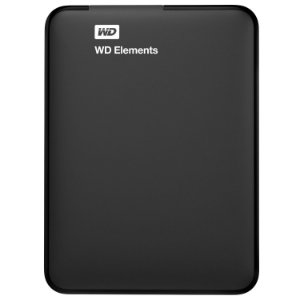 HD Externo Portátil WD Elements 1TB USB 3.0 - PRETO