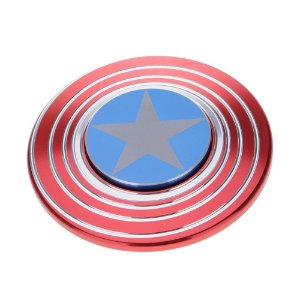Findget Hand Spinner Toy Escudo do Capitão América de metal Anti Stress / Estresse