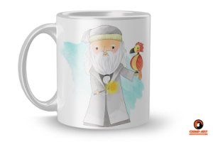 Caneca Harry Potter Aquarela - Dumbledore