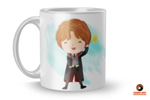 Caneca Harry Potter Aquarela - Ron