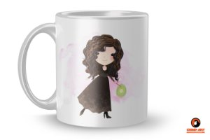 Caneca Harry Potter Aquarela - Bellatrix