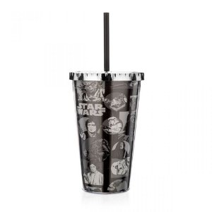 Copo com Canudo 450ml - Star Wars - Saga Quadrinhos