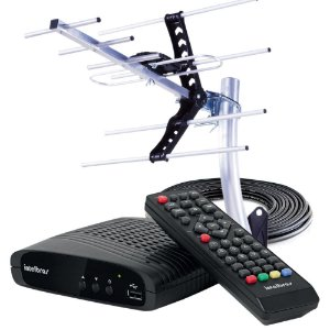 Kit Conversor Digital de TV Intelbras com Antena Externa