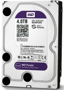 HD Interno WD Purple 4TB SATA III 5400 RPM WD40PURX 6GB/s