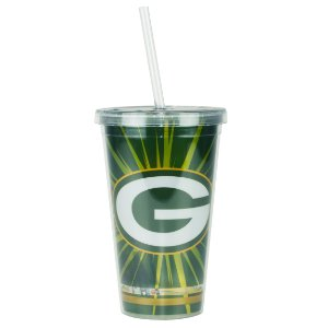 Copo C/ Canudo Green Bay Packers - NFL
