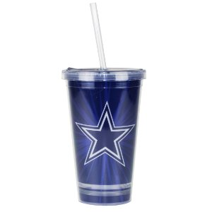 Copo C/ Canudo Dallas Cowboys - NFL