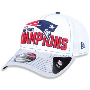 Boné New England Patriots 3930 5x Champion Branco - New Era