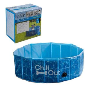 Piscina Para Cães Pequena Afp - Chill Out Splash And Fun Dog Pool - 160 Litros