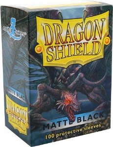 Sleeves Dragon Shield Matte Black 63 x 88 mm – com 100 (Standard Size) - para Magic the Gathering
