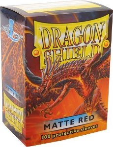 Sleeves Dragon Shield Matte Red 63 x 88 mm – com 100 (Standard Size) - para Magic the Gathering