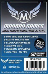 Sleeves Mayday 45x68mm - Mini Euro - PREMIUM - Com 50 unidades