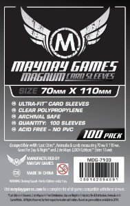 Sleeves Mayday 70x110mm - Magnum Silver - com 100 Protetores