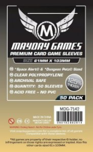 Sleeves Mayday 61x103mm - Magnum Space - PREMIUM com 50