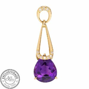 Pingente - Ametista - Ouro 18k