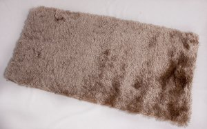 Tapete Shaggy Gold Peludo 50 x 100 cm Bege