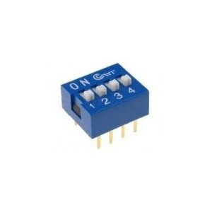 Chave DIP Switch 4 Vias
