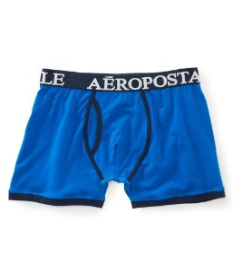 Cueca Aéropostale Masculina Solid Knit Boxers - Blue