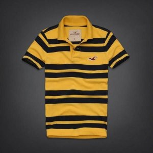 Polo Hollister Masculina Pacific Coast - Yellow