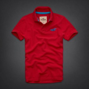 Polo Hollister Masculina Wipeout Beach - Red