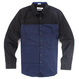 Camisa Calvin Klein Masculina Ultra Slim Fit Shirt - Black and Navy