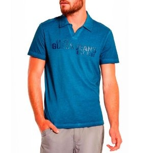 Polo Guess Masculina Enrico Johnny - Officer Blue
