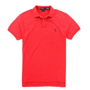 Polo Ralph Lauren Masculina Custom Fit Small Pony Polo - Sunset Red