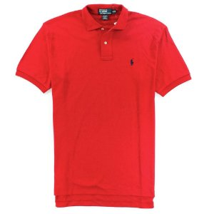 Polo Ralph Lauren Masculina Small Pony Piquet Polo - Red