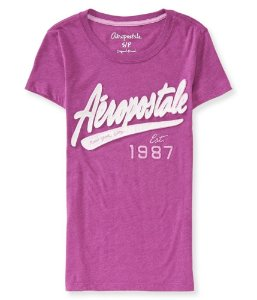Camiseta Aéropostale Feminina NYC 1987 - Grape Thrill