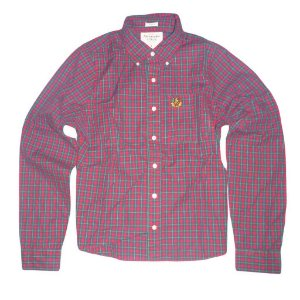 Camisa Abercrombie & Fitch Masculina Buell Mountain Shirt - Red and Green Plaid