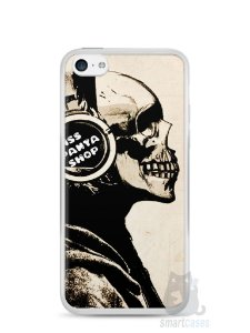 Capa Iphone 5C Caveira Music