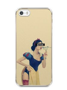 Capa Iphone 5/S Branca de Neve Bitch