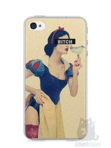 Capa Iphone 4/S Branca de Neve Bitch