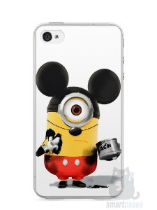 Capa Iphone 4/S Minions Mickey Mouse