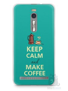 Capa Zenfone 2 Keep Calm and Make Coffee