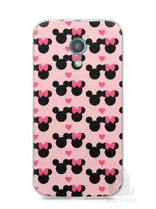 Capa Moto G2 Mickey e Minnie