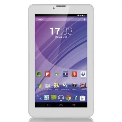 "Tablet Branco 7"" 3G Wifi Celular Dual Chip Quad Core NB224 - Multilaser"