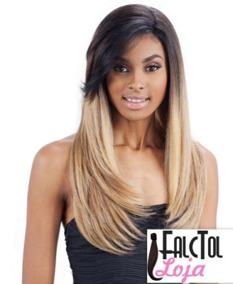 Model Model Synthetic Hair Lace Deep Invisible L Part Lace Front Wig - DAIJA - ENCOMENDA