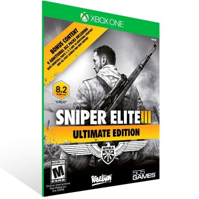 Sniper Elite 3 Ultimate Edition - Xbox One Live Mídia Digital