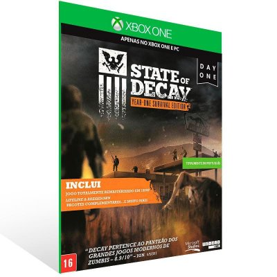 State Of Decay: Year One Survival Edition - Xbox One Live Mídia Digital