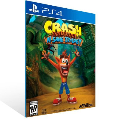 Crash Bandicoot N. Sane Trilogy - Ps4 Psn Mídia Digital